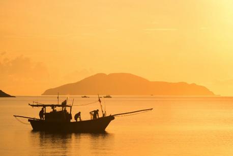 Vietnamese fishing boat